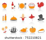 orange and red color series... | Shutterstock .eps vector #752210821