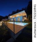 modern house  exterior in the... | Shutterstock . vector #752210941