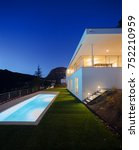 modern house  exterior in the... | Shutterstock . vector #752210959