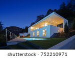 modern house  exterior in the... | Shutterstock . vector #752210971