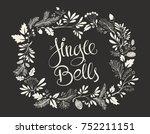 handwritten christmas text... | Shutterstock .eps vector #752211151