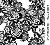 seamless monochrome pattern of...   Shutterstock .eps vector #752214895