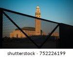 view of hassan ii mosque behind ... | Shutterstock . vector #752226199