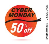 red cyber monday sale 2017... | Shutterstock .eps vector #752232931