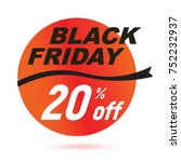 red black friday sale 2017... | Shutterstock .eps vector #752232937