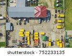 parking of special equipment ...   Shutterstock . vector #752233135