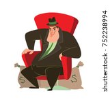 vector cartoon image of a funny ... | Shutterstock .eps vector #752238994