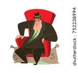 vector cartoon image of a funny ... | Shutterstock .eps vector #752238994