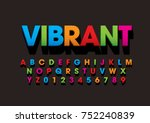 Vector of bold colorful font and alphabet | Shutterstock vector #752240839