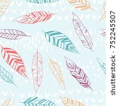 seamless color pattern of... | Shutterstock .eps vector #752245507