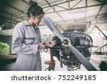asian women engineers and... | Shutterstock . vector #752249185