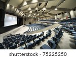 interior of a conference hall | Shutterstock . vector #75225250