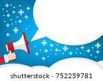 santa claus's hand holding... | Shutterstock .eps vector #752259781