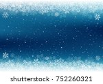 christmas background with white ... | Shutterstock .eps vector #752260321