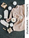 women's winter clothes look on... | Shutterstock . vector #752264671