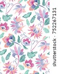 floral seamless background... | Shutterstock .eps vector #752267131