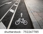 separate bicycle lane for... | Shutterstock . vector #752267785