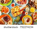 colorful healthy selection of... | Shutterstock . vector #752274154