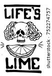 "skull and lime with text ""life... 