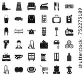 cleaner icons set. simple style ... | Shutterstock .eps vector #752275189