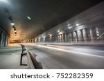 underground road on long expose | Shutterstock . vector #752282359