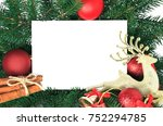 christmas invitation card for... | Shutterstock . vector #752294785