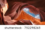 spectacular view of the... | Shutterstock . vector #752298265