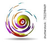 abstract vector background.... | Shutterstock .eps vector #752298469