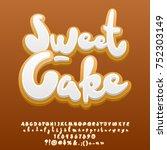 vector sweet ginger cake... | Shutterstock .eps vector #752303149
