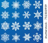set of beautiful snowflakes.... | Shutterstock .eps vector #752303959