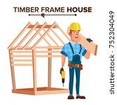 american builder vector.... | Shutterstock .eps vector #752304049