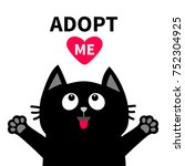 adopt me dont buy. red heart... | Shutterstock .eps vector #752304925