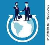 global cooperation. businessmen ... | Shutterstock .eps vector #752306479