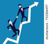 business concept illustration... | Shutterstock .eps vector #752306497