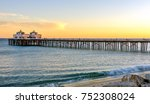 sunset at malibu pier in... | Shutterstock . vector #752308024
