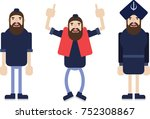 typical sikh character in... | Shutterstock .eps vector #752308867
