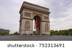 spring photo from iconic arc de ... | Shutterstock . vector #752313691