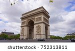 spring photo from iconic arc de ... | Shutterstock . vector #752313811