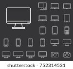 monitor icon in set on the... | Shutterstock .eps vector #752314531