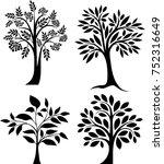 tree set   Shutterstock .eps vector #752316649