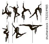 dancing on the pylon | Shutterstock .eps vector #752319985
