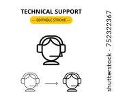 technical support modern linear ...   Shutterstock .eps vector #752322367