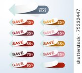 vector discount labels | Shutterstock .eps vector #75232447