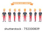flat guy character set.... | Shutterstock .eps vector #752330839