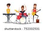 rock music poster. old school...   Shutterstock . vector #752332531