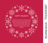 vector christmas banner with... | Shutterstock .eps vector #752335387