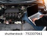 mechanic do maintenance and...   Shutterstock . vector #752337061