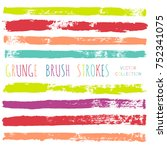 brush strokes set backgrounds.... | Shutterstock .eps vector #752341075