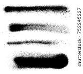 various black monochrome spray...   Shutterstock . vector #752345227