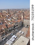Small photo of Verona, Italy - March, 13, 2015: Piazza Dante (Courtyard of the old market)